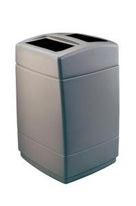 PolyTec 55-Gal Square Waste Container Color: Charcoal (55 Gallon Square)