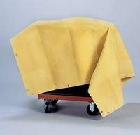 Radnor RAD64052004 6' x 6' 24 oz. Gold Neoprene Coated Fiberglass Welding Blanket