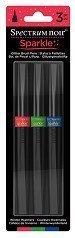 - Spectrum Noir Sparkle 3 PC Glitter Brush Pen Winter Warmers