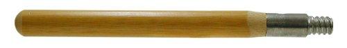 Magnolia Brush B-60 Hardwood Metal Threaded Garage Brush Handle with Clear Lacquered Finish, 1-1/8