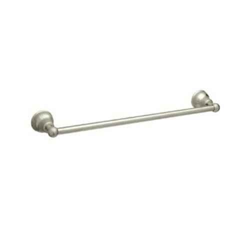 Rohl CIS1/18STN 18-Inch Single Towel Bar in Satin Nickel by Rohl