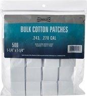 Gunslick Patches - Gunslick 500-Count Bulk Cotton Patches (.38-.45cal and .410/20 Gauge)