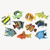 (US Toy Assorted Color and Design Tropical Fish Figure Play Set (Lot of)