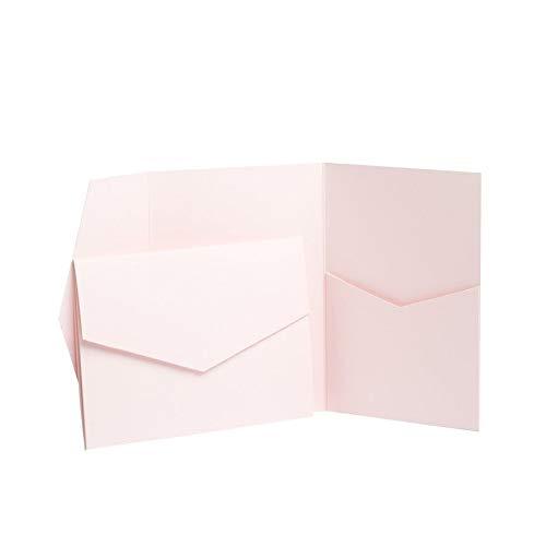 Pearl Pink Pearlescent Pocketfold Invites 152mmx110mm from Pocketfold Invites LTD 1