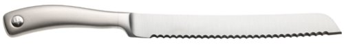 Wusthof Culinar 8-Inch Bread Knife 3 Serrated blade for slicing crusty bread and bagels Blade, bolster, tang forged from single piece of high-carbon stainless steel Handle sculpted from 18/10 stainless steel with elegant satin finish