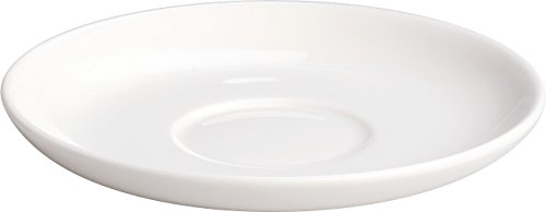 "Alessi""All-Time"" Saucer For Mocha Cups in Bone China (Set of 4), White"