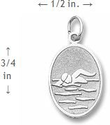 Rembrandt Charms Engravable Swimmer