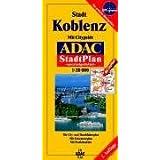 ADAC Stadtpläne, spezialgefaltet, Koblenz