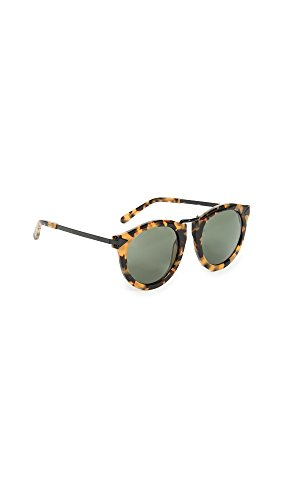 Karen Walker Women's Harvest Sunglasses, Crazy Tort/Smoke Mono, One - Walker Sunglasses