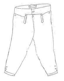 Civil War Colonel Costumes (Boy's Late 18th Century Breeches Pattern)