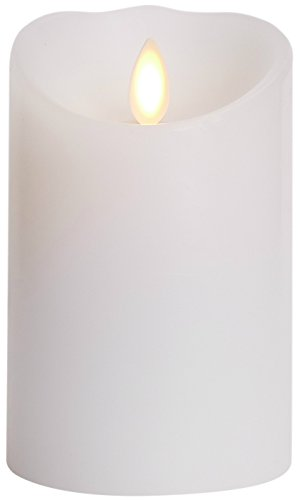 (Luminara Classic Pillar 3 in. W x 4 in. H White No Scent)