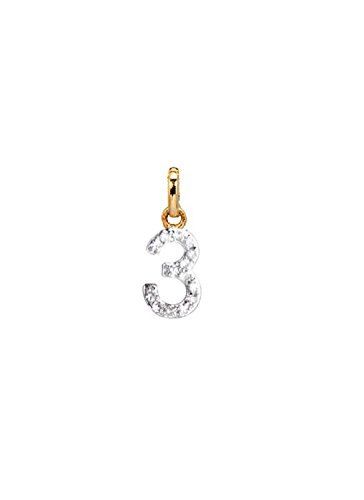 diamond number charm, Zoe Lev Jewelry by Zoe Lev Jewelry
