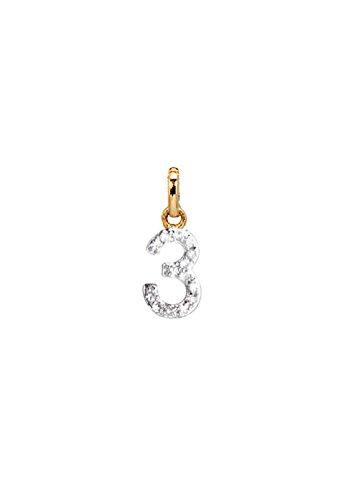 diamond number charm, Zoe Lev Jewelry