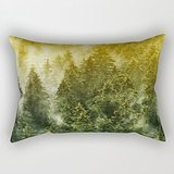Mountians Forest Throw Pillow Case 12 X 20 Inches / 30 By 50 Cm For Living Room,bench,wife,boys,teens,home Theater With Two Sides