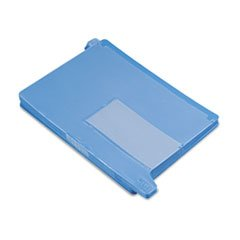 ** End Tab Out Guides with Pockets, Poly, Letter, Blue, 25/Box **