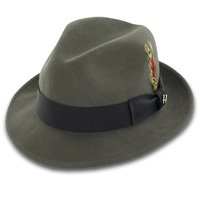 Belfry Bogart 100% Wool Men's Dress Fedora in Gray (M) (Felt Fedora Hats)