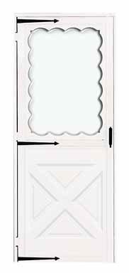 CROFT METALS 564-36REV 36'' x 80'' x 1-1/4'' Reversible Universal Hinge Crossbuck Storm Door With Screen by Croft Metals