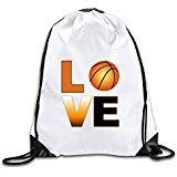 Discovery Wild Love Basketball Polyester Drawstring Backpack Rucksack Shoulder Bags Gym Bag Home Travel Sport Storage Use