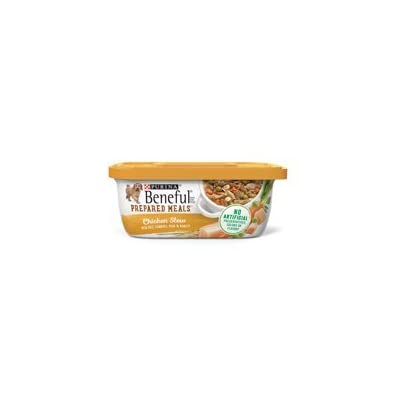 6 Tubs of Purina Beneful Prepared Meals Chicken Stew Adult Wet Dog Food - 10 oz. ea