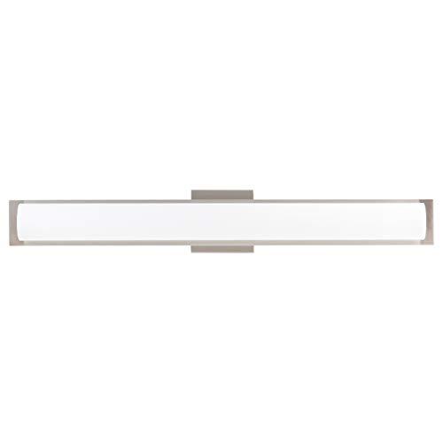 Portico 30 inch Integrated LED Bathroom Vanity Lights | Brushed Nickel Bathroom Light LL-SC86BN-30-BN
