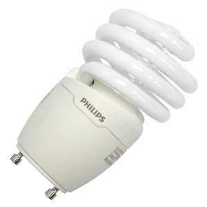 Mdt Lamp Bulb Light (Philips Lighting 454207 EL/mdTQS Energy Saver Compact Fluorescent Lamp 18 Watt GU24 Base 1250 Lumens 80 CRI 2700K Warm White)