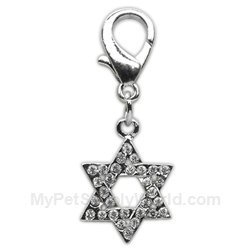 Mirage Pet Products Holiday Lobster Claw Charms/Zipper pulls Star of David, One Size