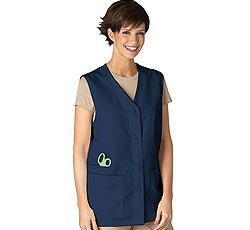 Med Couture Women's Peaches Three Pocket Vest, Navy, X-Small