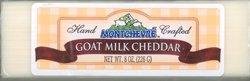 Goat Cheddar Cheese - Montchevre, Cheddar Goat, 8 Ounce