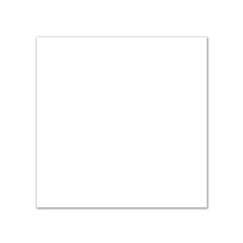 AbleDIY White Cast Acrylic Sheet 11.850 x 11.850 Inches 0.118 Thick Opaque Non-Transparent