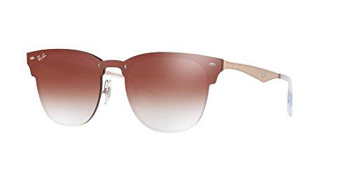 Ray-Ban the Blaze Non-Polarized Iridium Square Sunglasses, Brushed Copper, 41 - Clubmaster Ban Blaze Ray