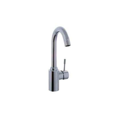 Spillo Single Hole - Spillo Single Hole Bathroom Sink Faucet with Single Handle Finish: Chrome, Optional Accessory: With Swivel Spout