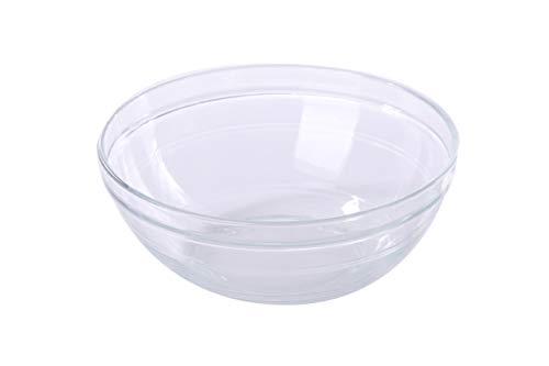 Duralex Lys Stackable 2.5 Quart Clear Glass Bowl 23 cm