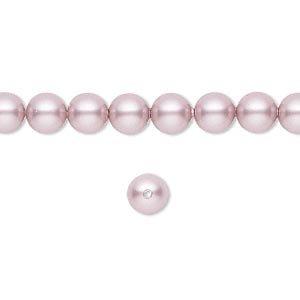 6mm Round Swarovski Powder Rose (Pink) Pearls (5810) Package of 50 ()