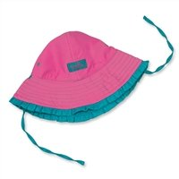 Apparel Infant Gum Bubble (UV SKINZ UPF50+ Baby Girl Reversible Sun Hat-Teal/Bubblegum Pink-18/24m)