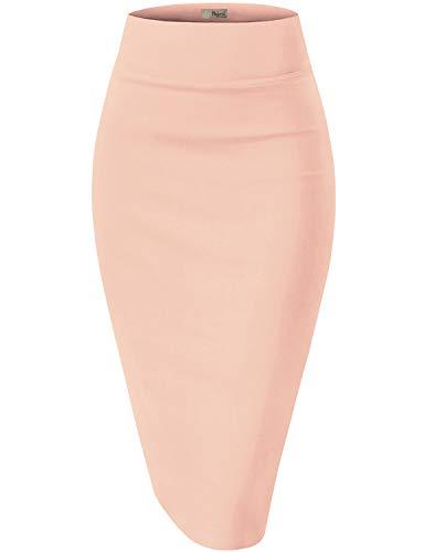 - HyBrid & Company Womens Pencil Skirt for Office Wear KSK45002 1073T Peach XL