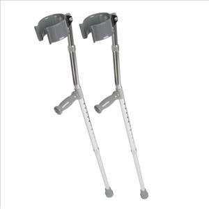 Crutch, Aluminum, Forearm, Tall, Adult