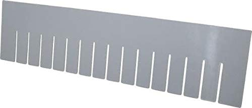 Quantum Storage - 22.4'' Wide x 6'' High Gray Bin Divider for Use with DG93060-6/Case (10 Cases)