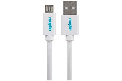 Maplin Premium USB-A 2.0 Male to Micro USB-B Male Cable 1.5m White ()