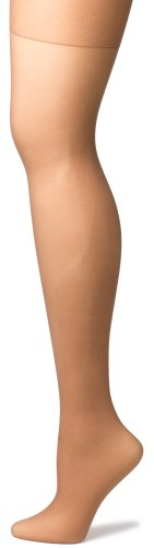 No Nonsense Women's Regular Reinforced Toe Pantyhose, 4 Pair Pack, Tan, B