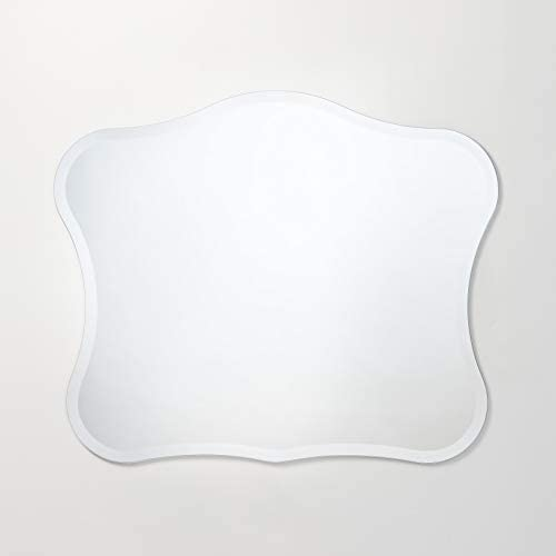 Better Bevel 36 x 30 Frameless Royal-Shaped Novelty Mirror 1 Beveled Edge