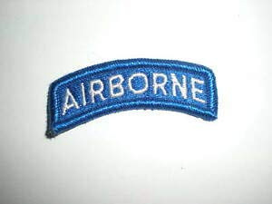 (U.S. Army Airborne TAB Patch - Full Color - White/Blue by HighQ Store)