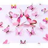 kakuu 36PCS Butterfly Wall Decals - 3D Butterflies wall stickers Removable Mural decor Wall Stickers Decals Wall Decor Home Decor Kids Room Bedroom Decor Living Room Decor- ()