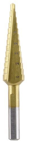 Vermont American 13370 Titanium Coated Step Drill Bit-1/8-Inch to-1/2 by 32 threads by Vermont American