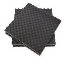 Pack 4 placas para protección de material frágil, insonorización, embalaje y acústica crater pequeño