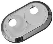 rosetones// protectoras radiador// cubiertas Roseta doble para tubos de calefacci/ón 15mm, RAL 9016 Blanco Tr/áfico pl/ástico resistente para tubos de distancia variable di/ámetro interior de 15mm