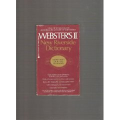Websters II New Riverside Dictionary by American Heritage - Shopping Riverside Mall