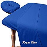400 Thread-Count Egyptian Cotton 3-Piece Massage Table Spa Sheet Set (1Pc Fitted Sheet,1Pc Flat Sheet & 1Pc Face Rest Cover) Fit up to 7