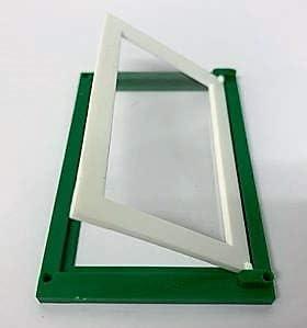 SM Dolls House Plastic Plain Panel Single Window 1//16 Scale Green /& White