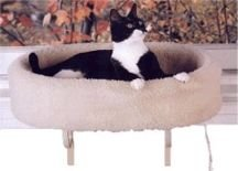 Deluxe Cat Window Perch - K&H Pet Products Kitty Print Sill with Deluxe Bolster