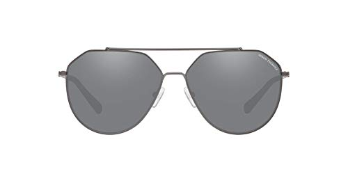 - Armani Exchange Men's Metal Man Sunglass Non-Polarized Iridium Aviator, MATTE GUNMETAL, 59 mm